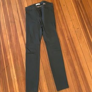 Olive green leather Vince pants
